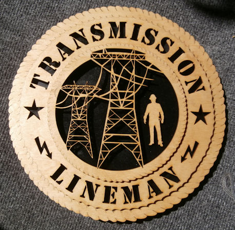 Tnt Transmission Lineman 12inch Wood Wall Plaque Gift
