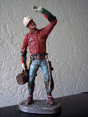 This Electrical Lineman statue would make a SUPER gift for any power lineman! LINEMAN ASSESSMENT!
