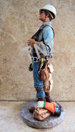 Lineman Sculptures by Michael Garman