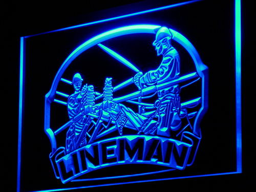 Tnt Linemans Lighted Neon Sign Wall Art