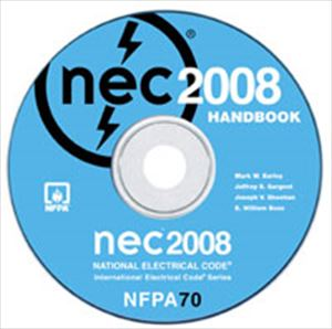 2008 NEC National Electrical Code HANDBOOK on CD-ROM Software