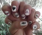 Nail Transfer Art - For Gals Who Admire Power Linemen!