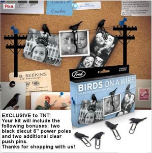 Birds On A Wire Paperclip Kit with Utility Poles