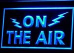 ON THE AIR Radio Neon Blue Light Sign - Communications Gift