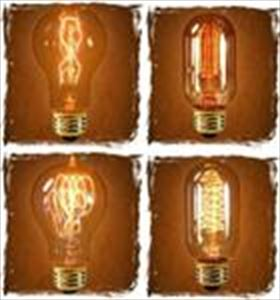Light Bulbs - Unique Antique Victorian Style Filaments