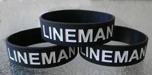 LINEMAN Rubber (silicone) Wrist Band BOTH SIDES