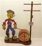 "Reddy Kilowatt At Your Service! Diorama Display 31"" Tall"