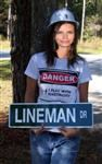 Ladies T-Shirts - Linemans Lady or Electrician Wife!