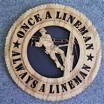 Cable Lineman Wall Art Plaque - Laser Cut CUSTOM ALSO
