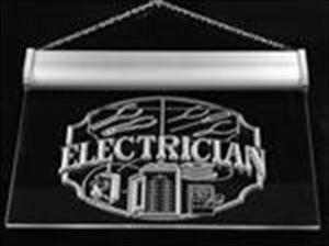 Electrician Gift: Neon Blue LED Light Sign Art