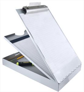 Saunders Recycled Aluminum Dual Tray Storage Clipboard - Letter Size