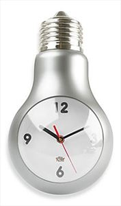 Lightbulb Wall Clock - Nice gift for electrician