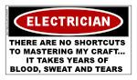 ELECTRICIAN STICKER:  Mastering My Craft