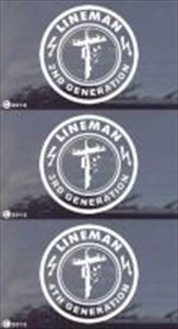 2nd, 3rd, 4th Generation Lineman Window Decals