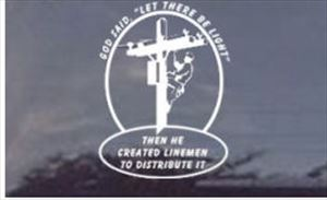 God said, Let There Be Light Decal - Die Cut Various Sizes