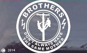 Brothers Don't Always Have the Same Mother Lineman Decal