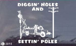 "11"" Personalized Digger Operator Stickers Decals"