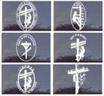 Assorted WHITE or BLACK Lineman Die Cut  Decals for Truck