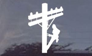 Cablewoman LineWoman Die Cut Decal for Windows: Female