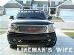LINEMANS WIFE Windshield Decal for Trucks 36""