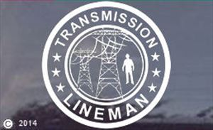 Transmssion Lineman Window Decal - Sticker