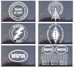 CUSTOM Die-Cut Ham Radio Window Decals