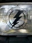 Black or White Lightning Bolt Window Decal Sticker