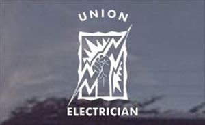 Union Electrician Window or Truck Decal