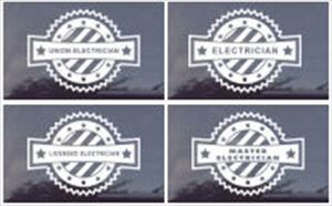 Patriotic Electrician Window Decals - Your Choice!