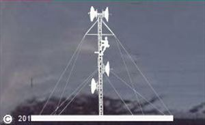 Guyed Telecommunications Tower with Climber - Decal Sticker