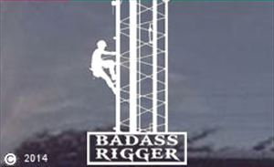 Bad Ass Rigger Die-Cut Window Decal -ALSO CUSTOM