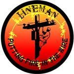 Linemans Decal - Putting Fire in the Wire Hard Hat Decal Sticker