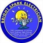 Bright Spark Electrician Decal - Super Detailing
