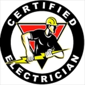 Certified Electrician Hard Hat Decal