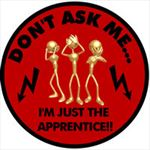Im Just The Apprentice! Don't Ask Hard Hat Decal