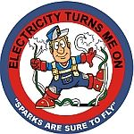 Electricity Turns Me On - Arcing Wires Decal