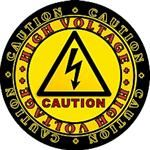 CAUTION High Voltage Stickers / Decals