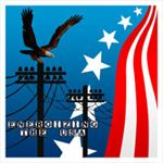 Energizing the USA Decal - Patriotic Eagle Decal