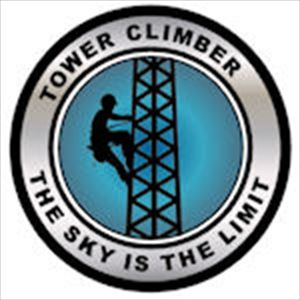 Hard Hat Decal: Tower Climber The Sky is the Limit