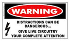 WARNING: Distractions Can Be Dangerous... Sticker