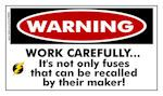 TNT: WARNING: Work Carefully FUNNY STICKER!