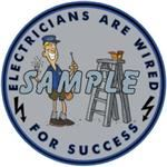 Electricians are Wired for Success Decal - YES