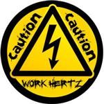 Work Hertz Decal for Electrical Trades Men