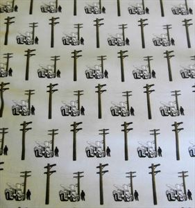 Fabric Material for Power Linemen - Lineman, Truck, Pole 1/4+ yards