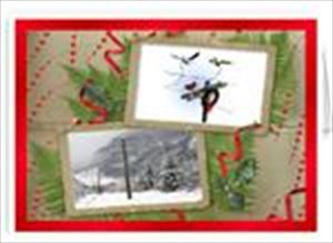 Power Poles of Winter Greeting Cards-Electrician Lineman