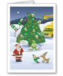 Santa's Stooges Electric Company Contractor Christmas Cards