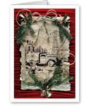 Transmission Line Cowboys Vintage Style Holiday Greeting Cards