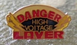 High Voltage Lover Hat Pin