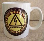 Caution High Voltage Electrician Coffee Mug Cup