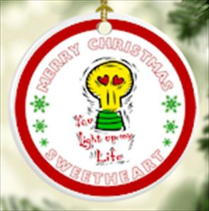 You Light Up My Life Christmas Tree Ornament